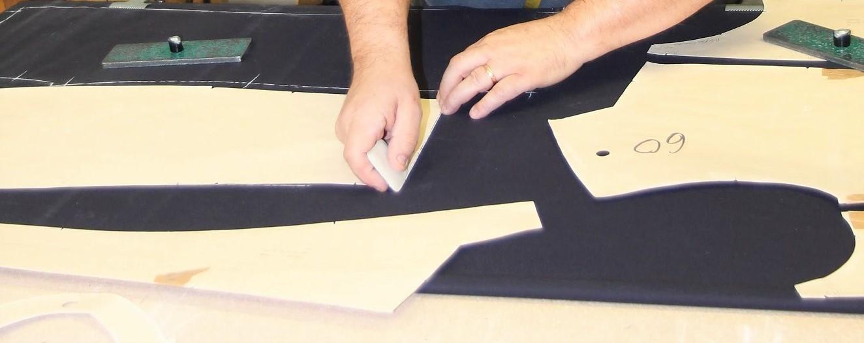 Pose et tracés des patronages pour confection de tenue de sortie DBB UNIFORMES